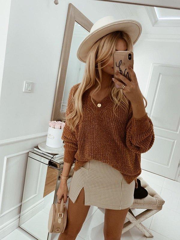 Sweter Francis Brązowy