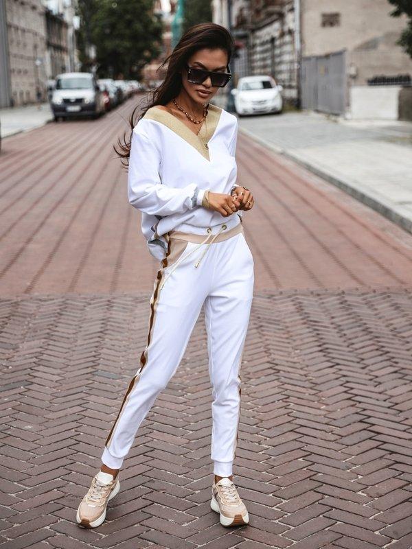 Spodnie Delicate Białe