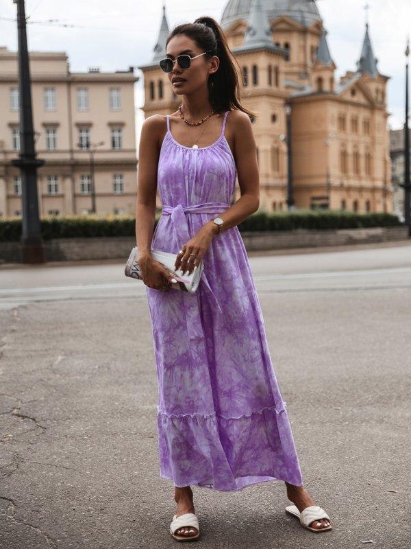 Sukienka Cleo Fioletowa