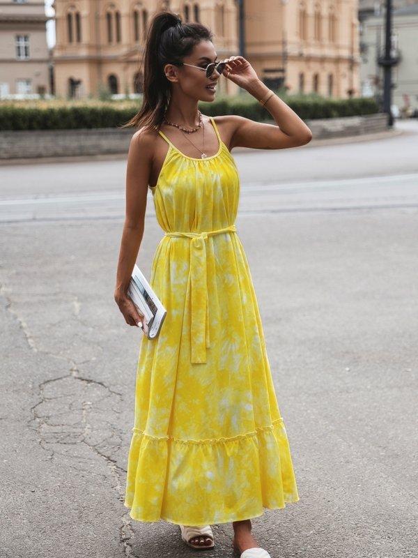 Sukienka Cleo Żółta