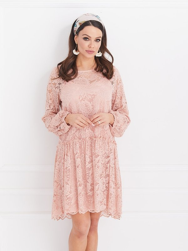 Sukienka Azalia Pudrowa