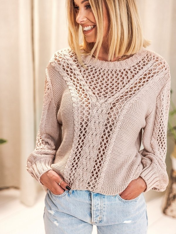 Sweter Lily Beżowy