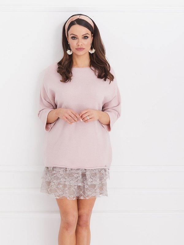 Sweter Lolla Pudrowy