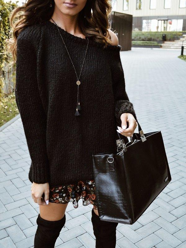 Sweter Plum Czarny