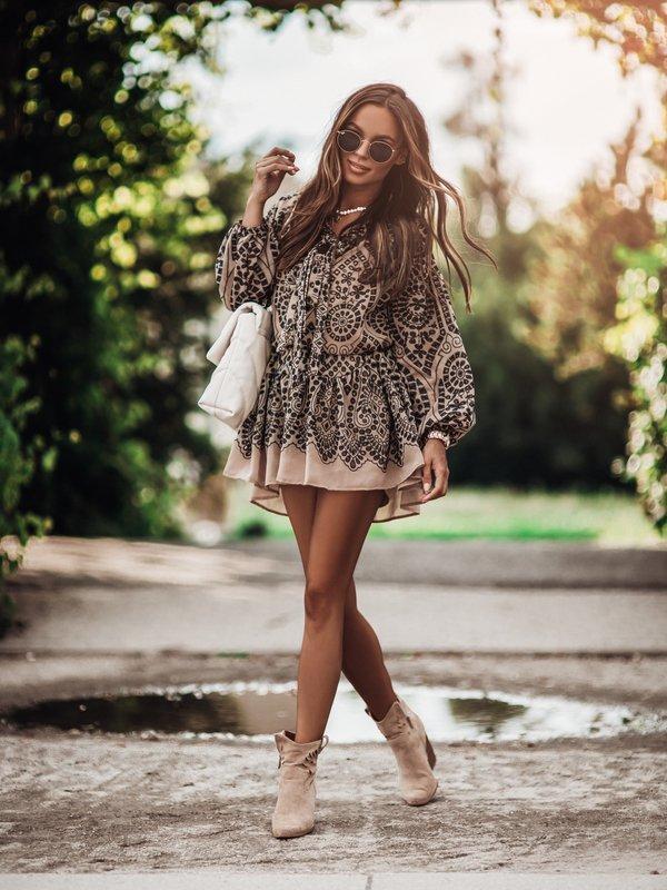 Sukienka Melody Beżowa