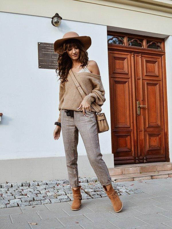 Spodnie Global Brązowe