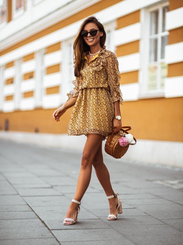 Sukienka Oven Musztardowa