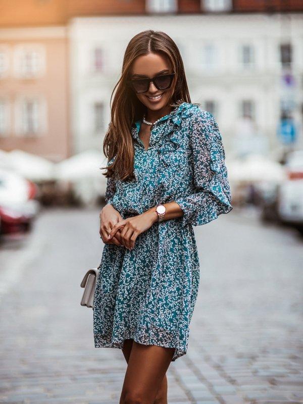 Sukienka Oven Niebieska