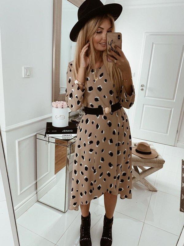 Sukienka Madonna Pudrowa