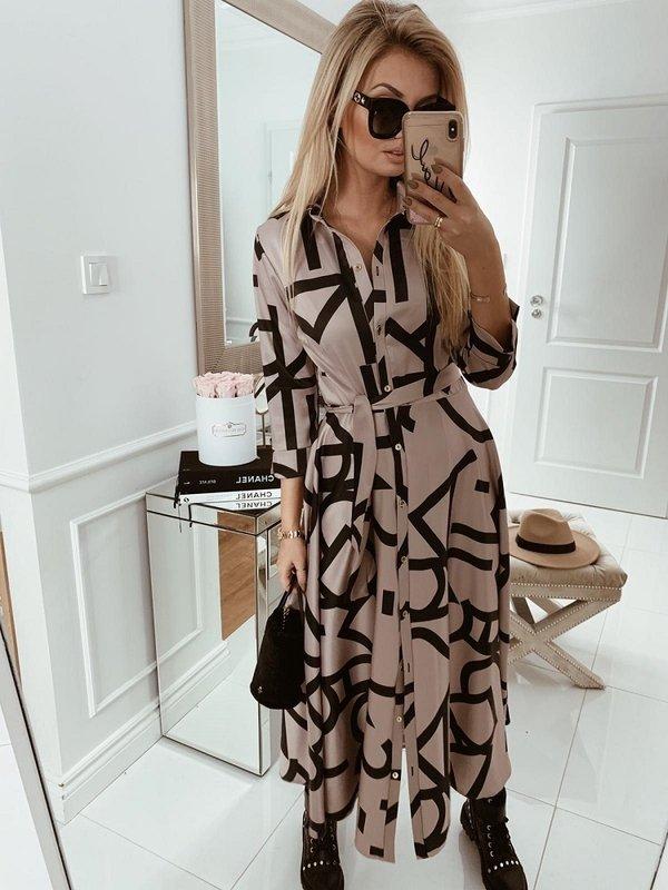 Sukienka Ansonia Big Pudrowa