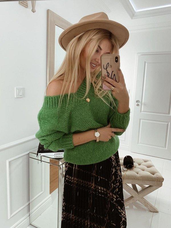 Sweter Fluffy Zielony