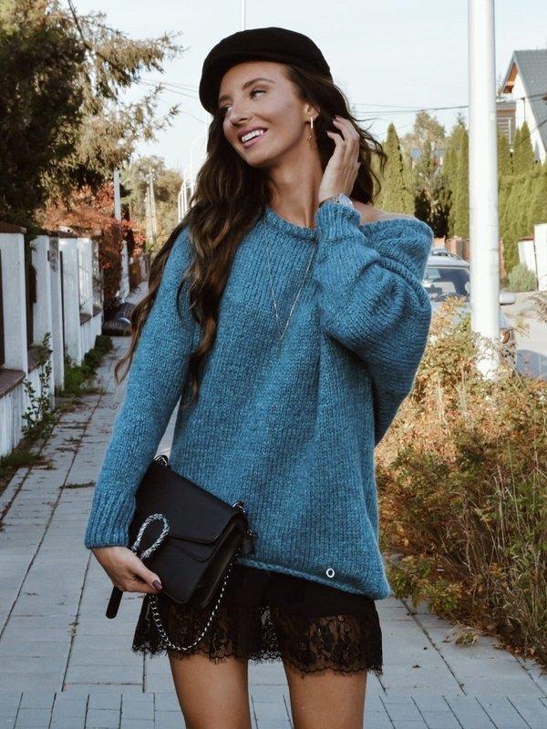 Sweter Plum Turkusowy