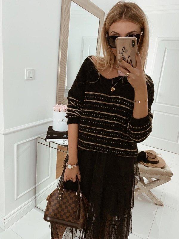 Sweter Golden Czarny