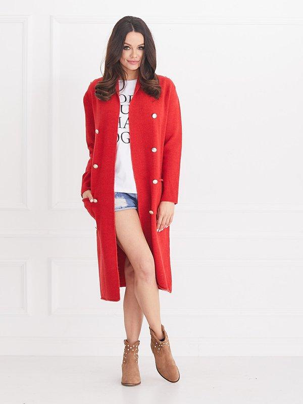 Sweter Torino Czerwony