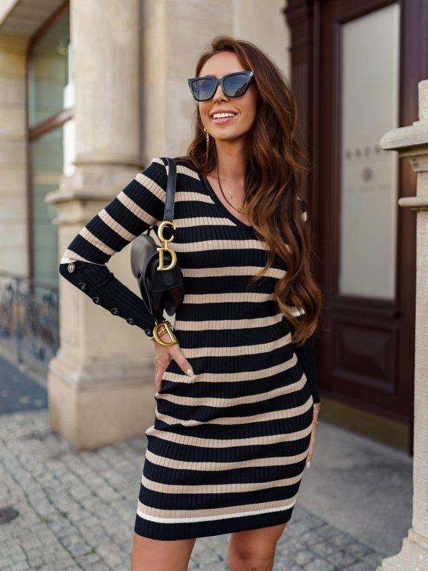Sukienka Girossa Beżowa