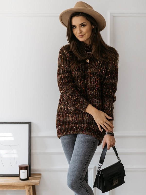 Sweter Proud Brązowy