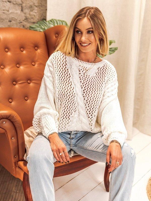 Sweter Mismo Biały