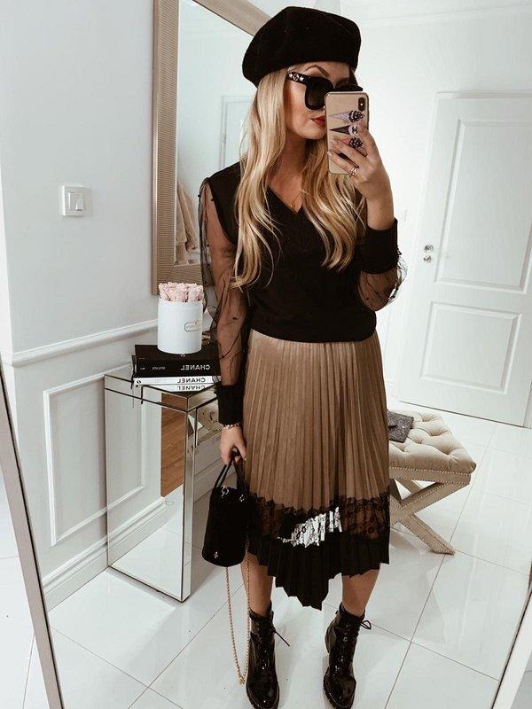 Spódnica Riley Beżowa