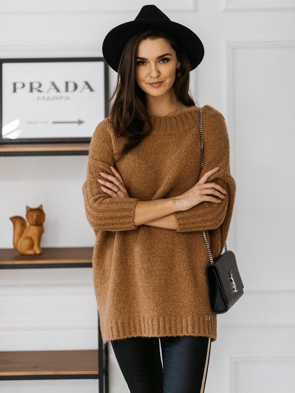 Sweter Tiempo Karmelowy