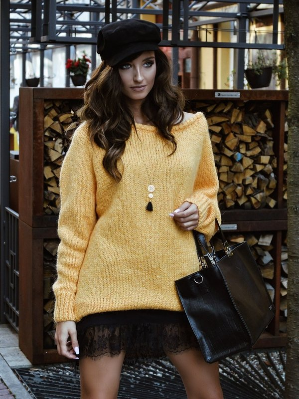 Sweter Plum Żółty