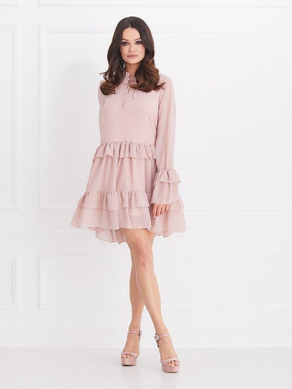 Sukienka Tevere Pudrowa