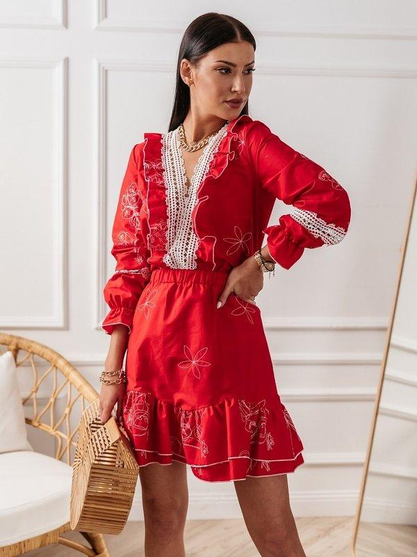 Bluzka Peonie Czerwona
