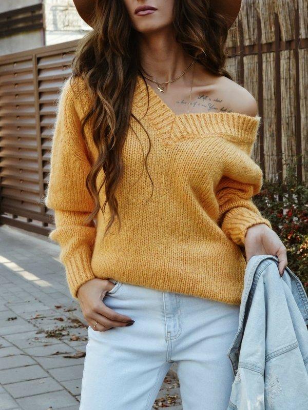 Sweter Fluffy Żółty