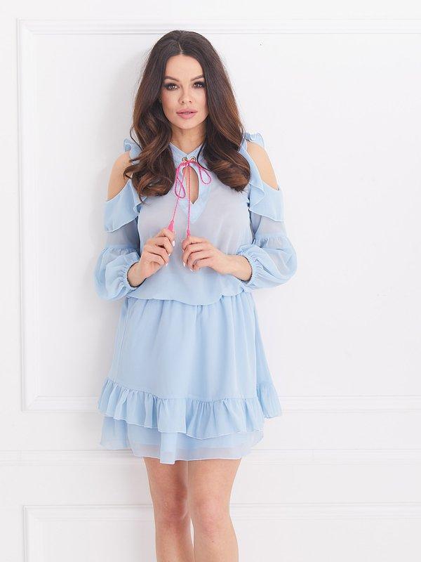 Sukienka Velvet Błękitna