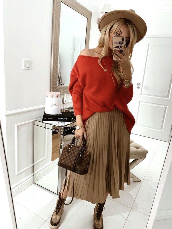 Sweter Amalia Czerwony