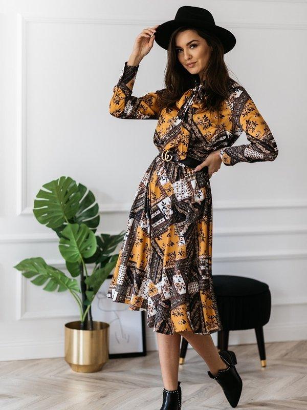 Sukienka Casimir Musztardowa