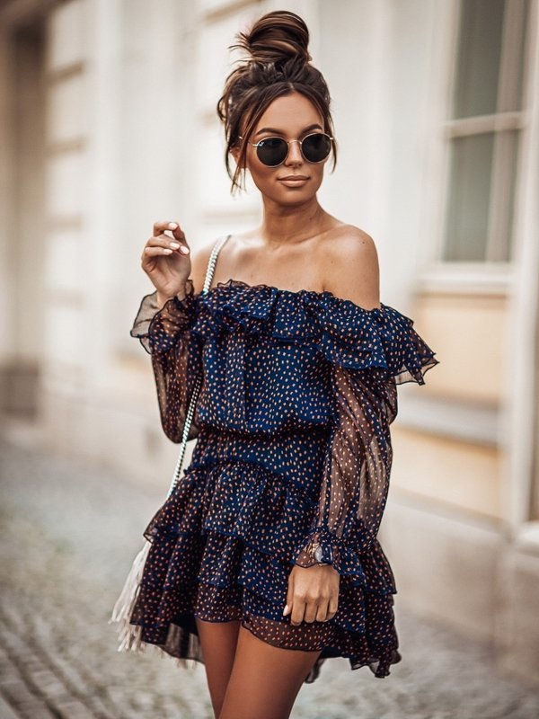 Sukienka Raquela Granatowa