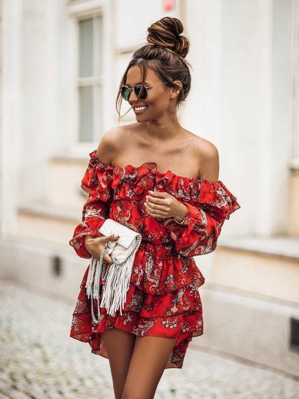 Sukienka Raquela Czerwona