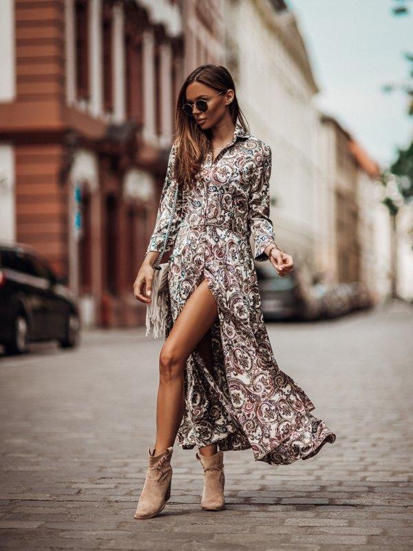 Sukienka Lissie Beżowa