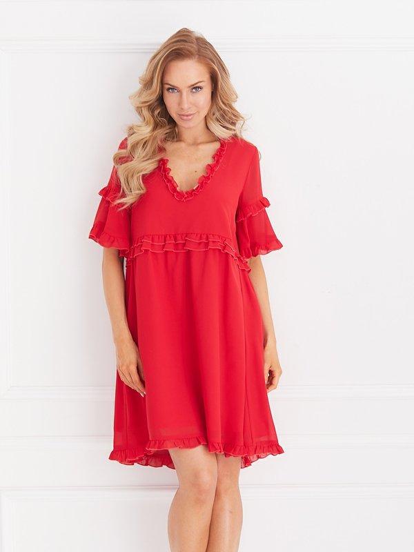 Sukienka Flamenco Czerwona