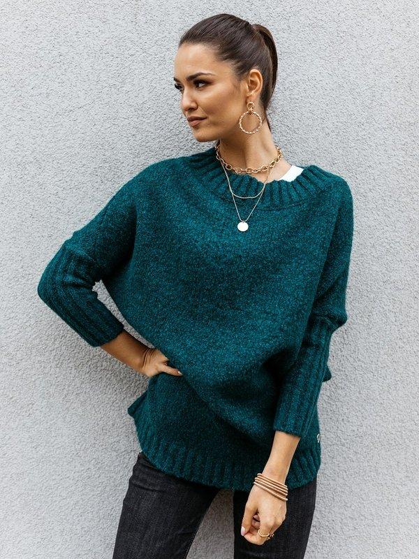 Sweter Tiempo Butelkowa Zieleń