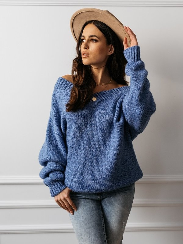 Sweter Fluffy Niebieski