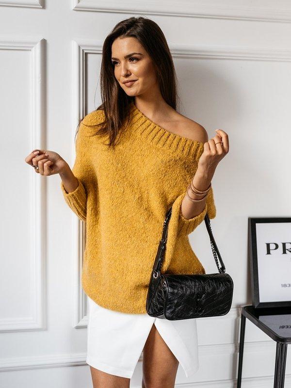 Sweter Tiempo Musztardowy