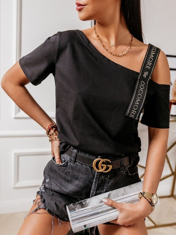 Bluzka Stripe Black Czarna