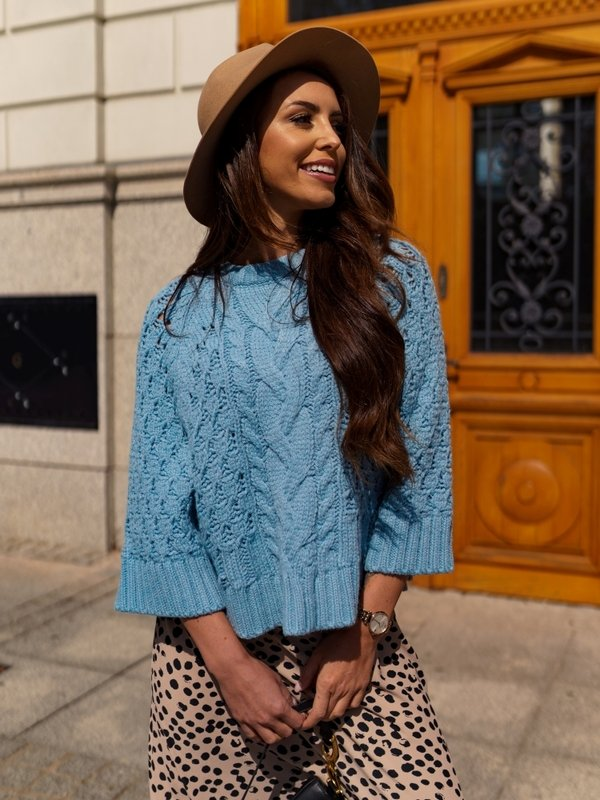Sweter Beauty Błękitny