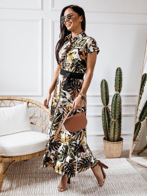 Sukienka Papago Musztardowa