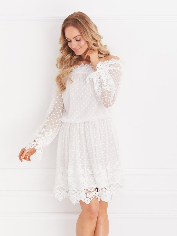 Sukienka Remedia Biała