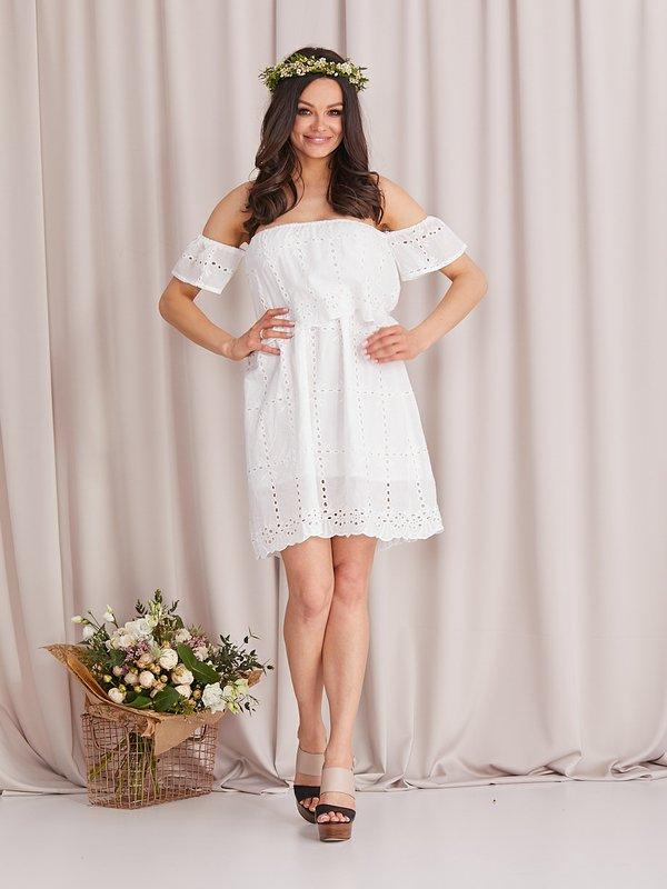 Sukienka Lamino Ecru