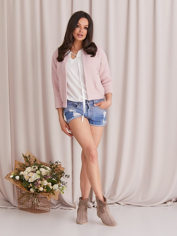 Sweter Tonia Pudrowy