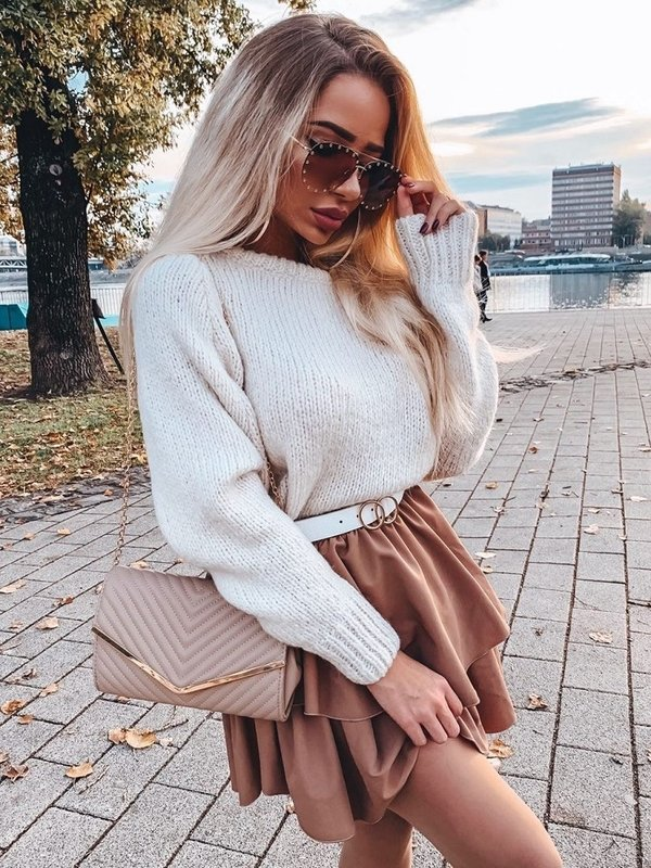 Sweter Plum Kremowy
