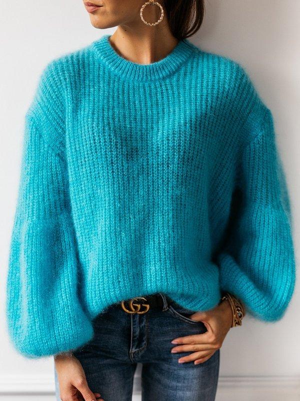 Sweter Alena Moher Turkusowy