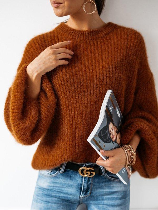 Sweter Alena Moher Brązowy