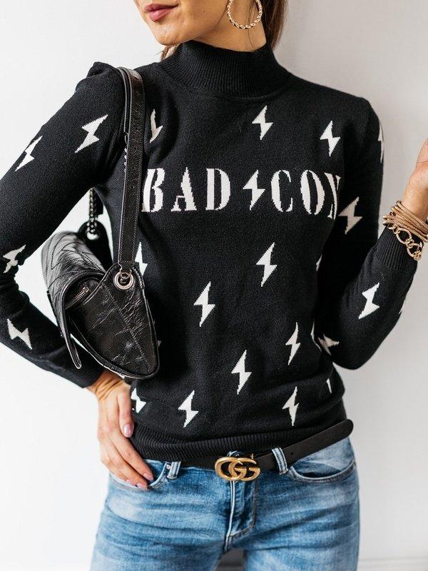 Sweter Bad Icon Premium Czarny