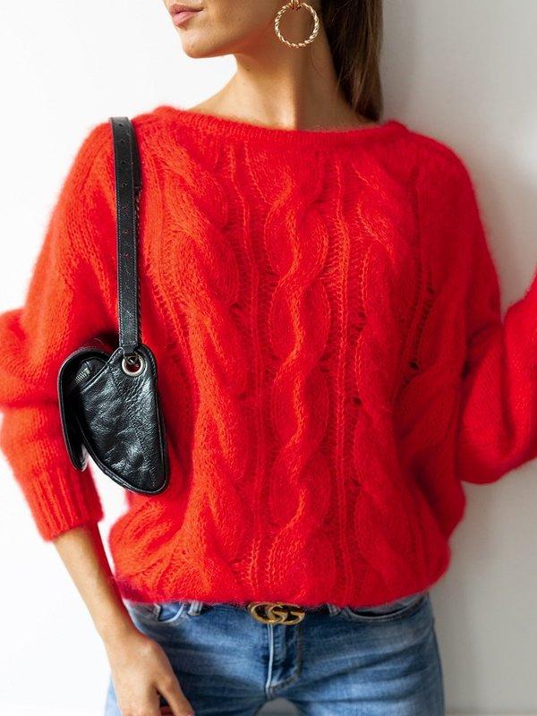 Sweter Marciane Moher Malinowy