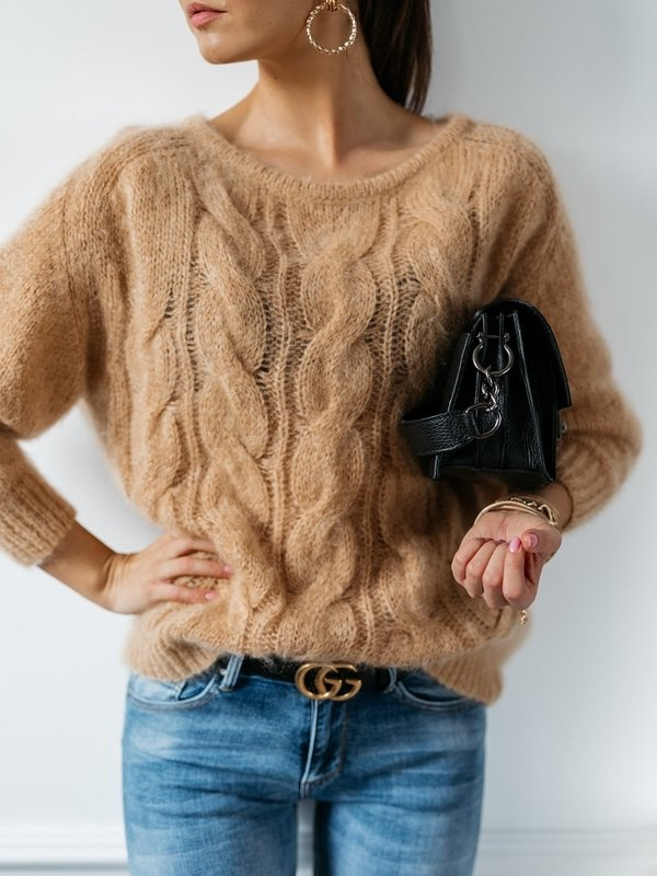 Sweter Marciane Moher Karmelowy