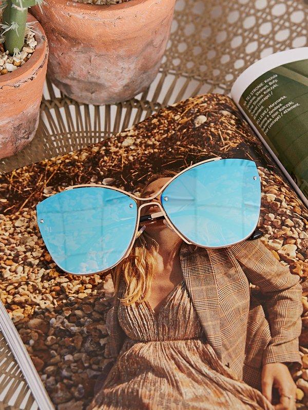 Okulary Unique Niebieskie